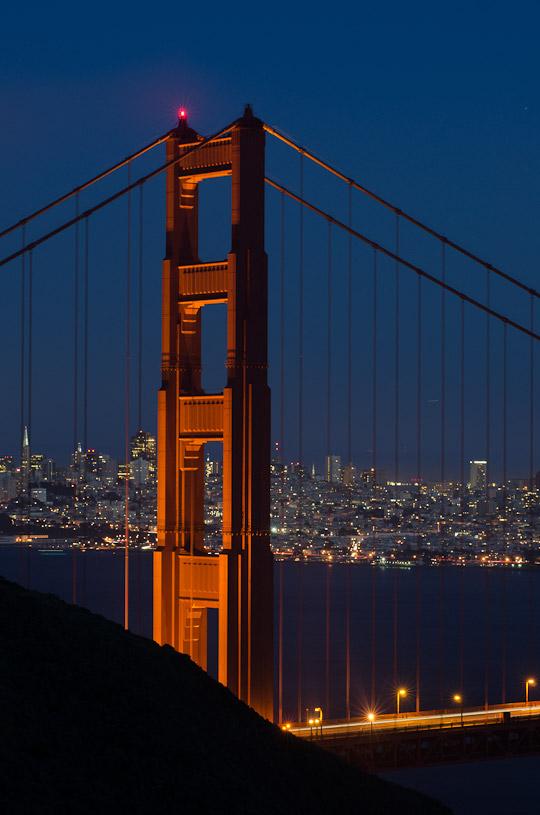Golden Gate Bridge at twilight