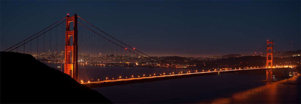 Golden Gate Bridge, Just After Sunset