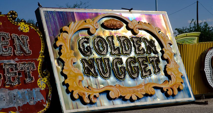Golden Nugget Sign Neon Boneyard, Las Vegas