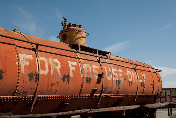Decaying Tank Car at the Nevada State Railway Museum