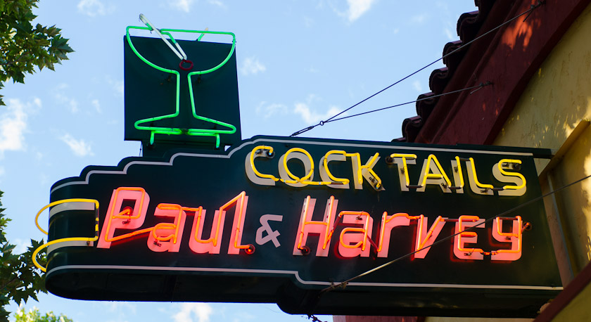 Cocktails at Paul and Harvey