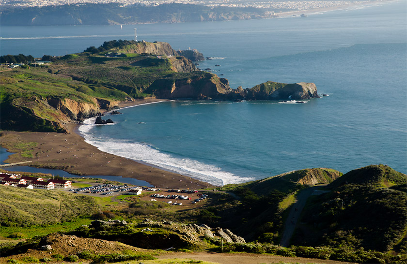 Rodeo Beach, viewed from above