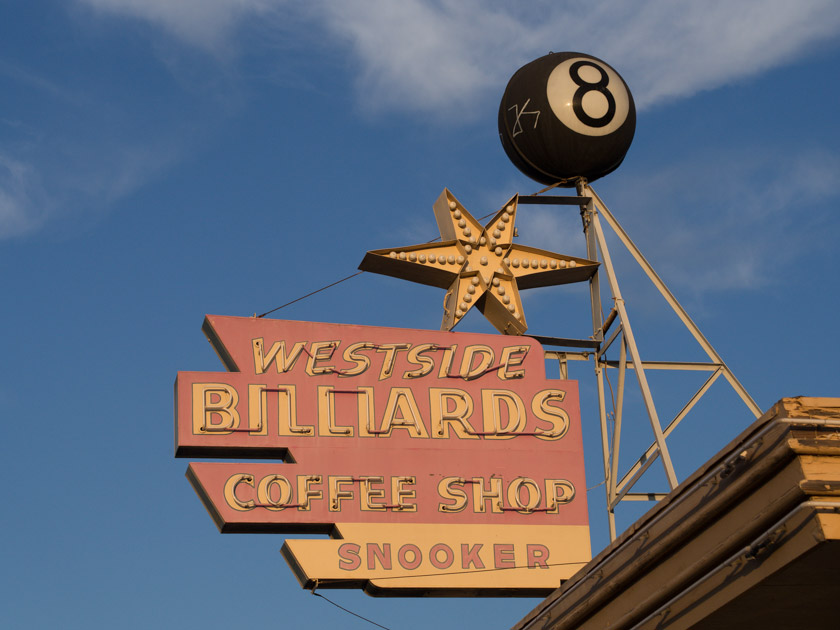 Westside Billards Sign