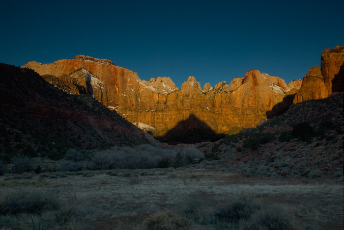 Sunrise over the Towers of the Virgin, Zion National Park