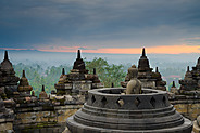 Budda at dawn, Borobudur