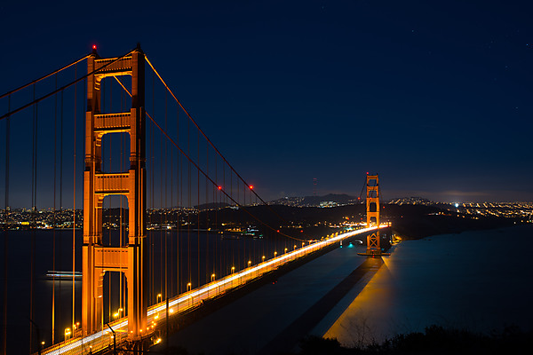 Twilight after Sunset, Golden Gate Bridge,