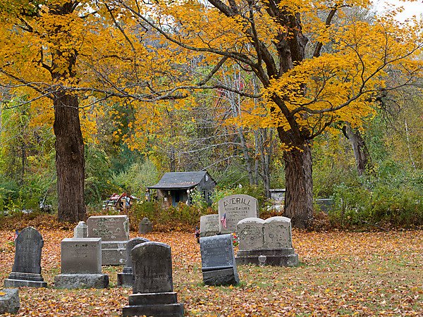 Cemetery in Fall