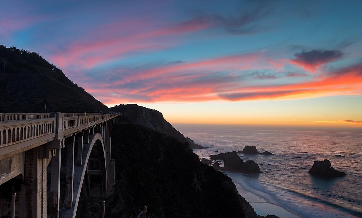 Big Sur Sunset - Rocky Creek Bridge