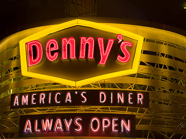 Neon Denny's Sign