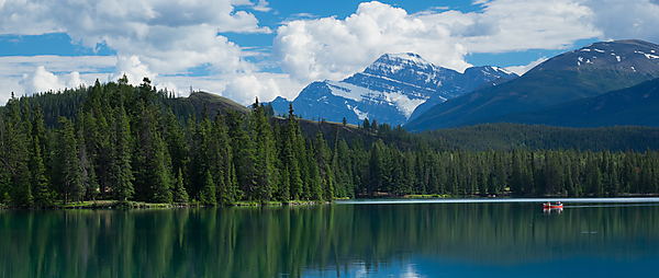 Mt Edith Cavell, View Across Lac Beauvert