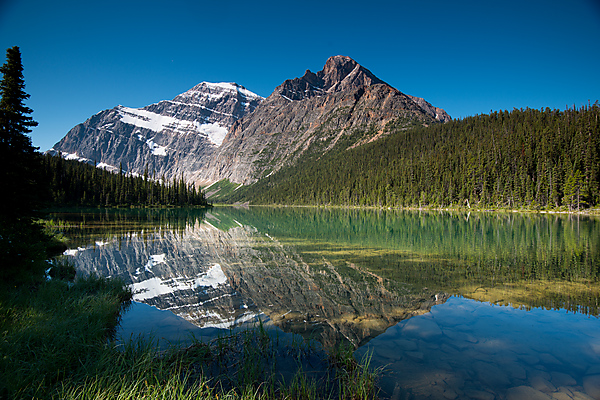 Mount Edith Cavell reflected in Cavell Lake