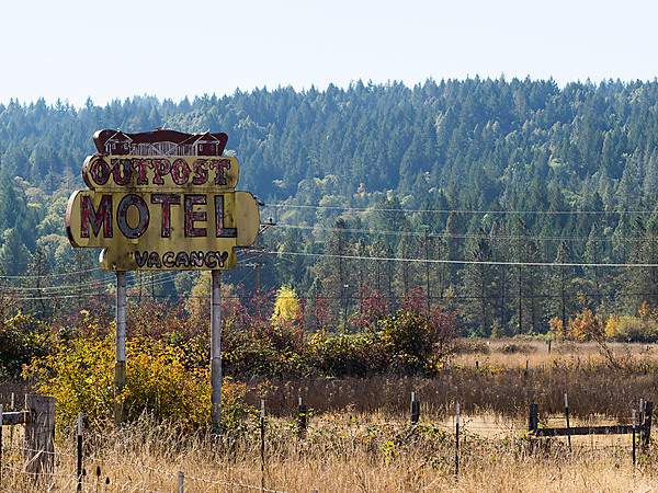 Outpost Motel Sign