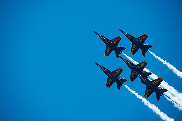 Blue Angels Fly Overhead