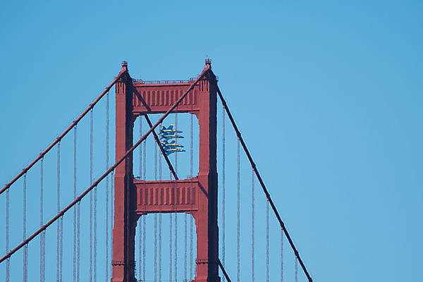 Blue Angels Fly Past Golden Gate Bridge