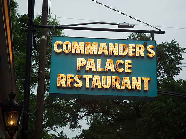 Commander's Palace Restaurant Sign