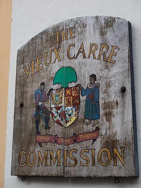 The Vieux Arre Commision Sign