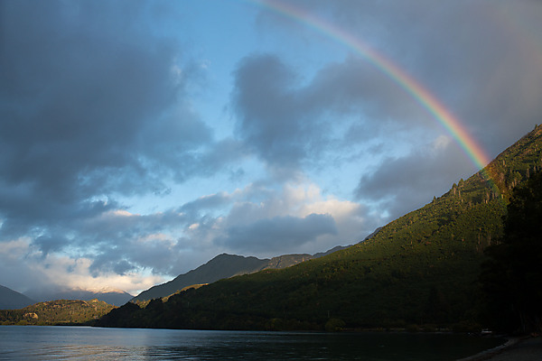 Rainbow over Lake Wakatipu