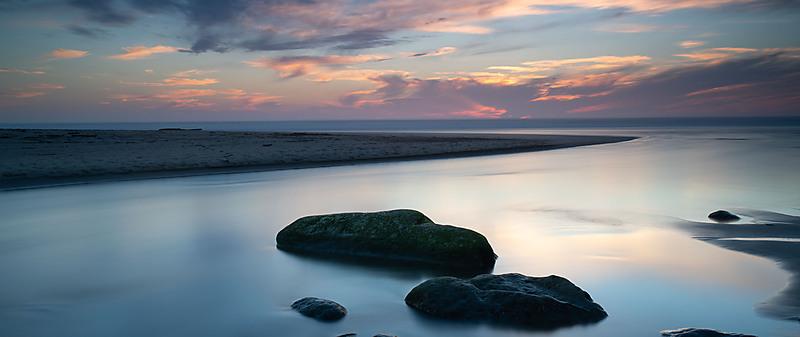 Sunset over San Gregorio State Beach