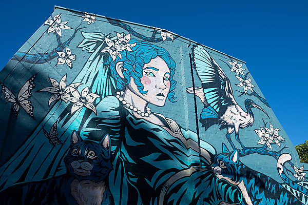 Woman & Cats Mural