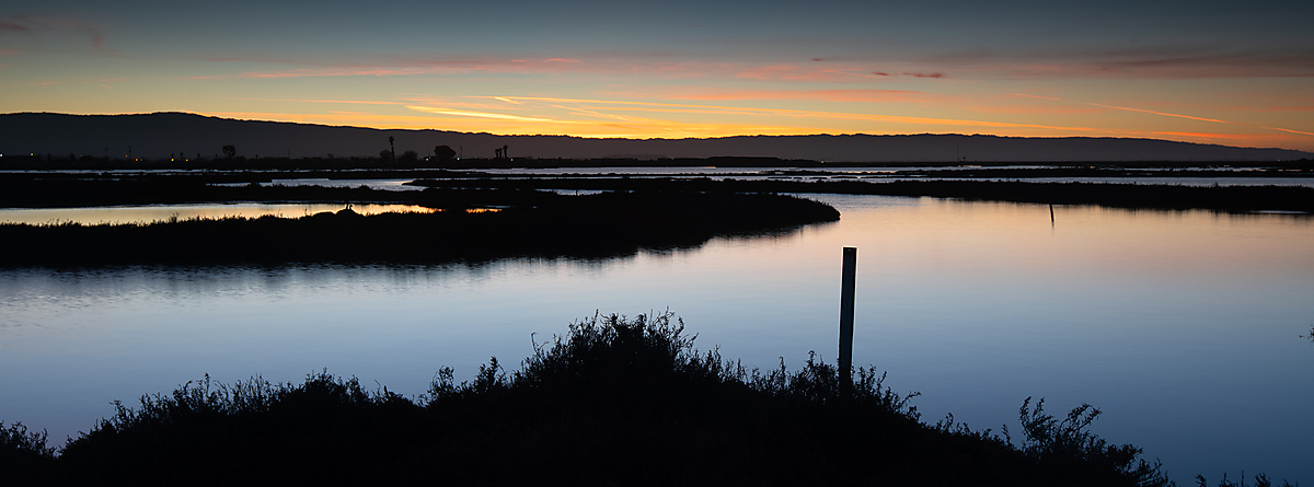 Sunset Over The Marsh, Don Edwards Refuge
