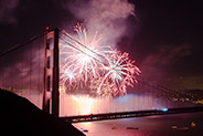 Golden Gate Bridge 75th Anniversary Fireworks